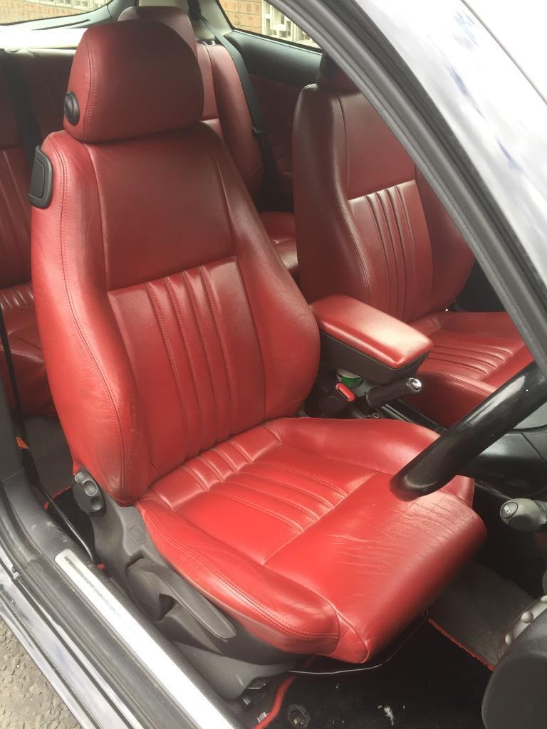 Alfa Romeo Dr Red Leather Interior Seats Door Cards In - Alfa romeo seat covers