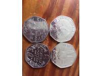 50 p coins