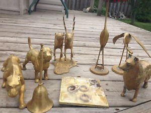 LOT of 11 vintage solid brass items