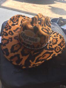 CORONA EXTRA COWBOY HAT fake leopard skin size 7 1/4