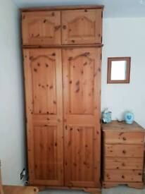 Full set of double bedroom pine furniture