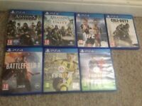 7 PS4 games all in excellent condition in original cases £100
