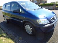 VAUXHALL ZAFIRA *7 SEATER* Just 49,000 genuine miles. Excellent condition.
