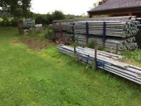 Large quantity of used galvanised Cuplock scaffolding, over 60m X 5m. NO BOARDS