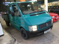 Vw lt double crew cab tipper pick up flatbed van