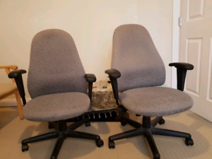 Two Steelcase leap office chairs