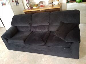 Black couch and Chair