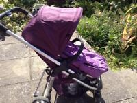 I candy pushchair purple