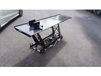 Hydraulic Motorcycle lift,Ramp,Workbench 1000 lbs ***AS NEW BLACK***