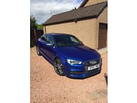 Audi S3 Saloon, 2015(65 plate), Manual, Quattro, 4door Sepang Blue - B&O sound, Pan roof, Tech pack