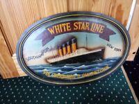 Titanic 'White Star Line' wall ornament