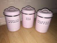Typhoon vintage tea sugar coffee ☕️ canisters