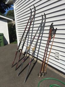 2 sets of cross country skis