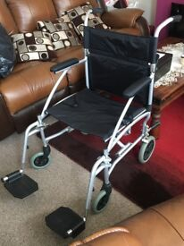 Folding Wheelchair Enigma Extra Wide Lightly used