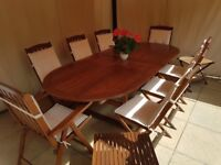 Garden table and chairs (8 seater)
