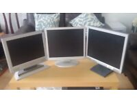 3 pc monitors in great condition with audio!