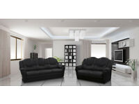 HIGH BACK TEXAS SOFA RANGE, 3+2 SET OR CORNER SOFA**** CHOICE OF LEATHER OR FABRIC FINISH