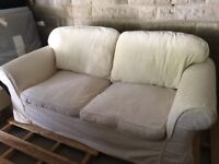 Cream sofa bed - good condition