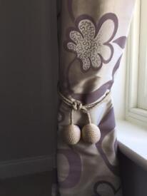 Satin curtains