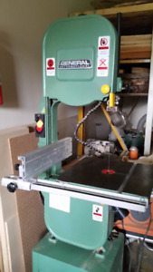 "General International Bandsaw has 12"" throat for resaw, blanks."