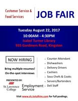 Customer & Food Services Job Fair