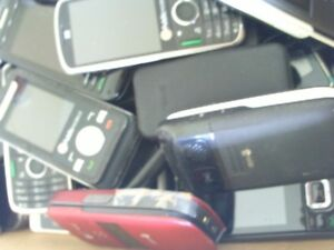 Assorted lot of 60 cell phones,some new,AS IS,no chargers