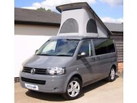 2010 VW T5 Camper - 180 bhp BiTurbo, Pure Grey. SCA Roof, RIB Bed, Full VW Specialist History