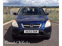 Honda Cr-V ( CRV ) 2.0 SE Sport 4x4, Navy Blue met side steps spoiler alloys serviced & 12mths mot