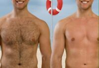 Chest and back waxing for men $40 Tuesdays and Sundays!