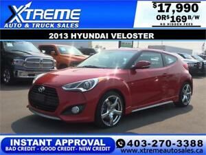 2013 HYUNDAI VELOSTER TURBO $169 bi-weekly APPLY NOW DRIVE NOW