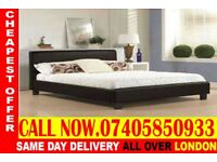NEW DOUBLE AND KING SIZE SINGLE LEATHER BED AND MATTRESS Cedar