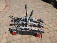 Thule tow bar 3 bike carrier with electrics.
