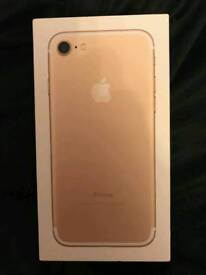 Brand new Iphone 7 128gb in gold