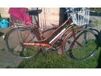 Vintage Raleigh Ladies Bike Retro Road Touring Town Classic with front basket