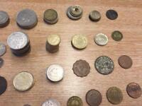 Large collection of old coins , British, Irish , South Africa, French, Spanish