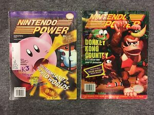 Nintendo Power - Kirby/DKC -Poster Demon's Crest/Secret Evermore