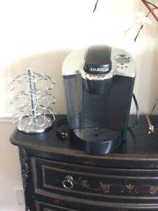 Keurig coffee maker and caddy