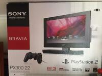 Px300 Sony 22inc tv with built in PlayStation 2