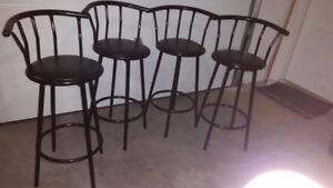 4 Bar Stools - Black