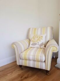 REUPHOLSTERED LAURA ASHLEY ARMCHAIR