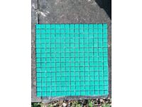 Mosaic tiles*turquoise blue*