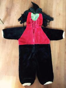 costume d'halloween doublé de sorciere 2-3ans