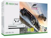 MICROSOFT XBOX ONE S FORZA HORIZON 3 500GB GAMES CONSOLE 1 MONTH OLD UNDER AMAZON WARRANTY
