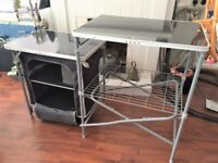 NEW UNUSED FOLDING CAMPING TABLE WITH SHELVES QUALITY Cost £80 sell £38