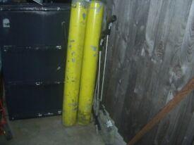 Bollards 2 x 3 foot 9 inch high 6 inch wide commercial grade galvanized Bollards