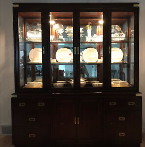 Elegant Kroehler, hutch and buffet China Cabinet