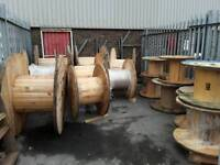 Cable drums/reels various sizes used ready for repurpose can deliver locally