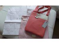 Genuine Radley Pocket Bag Medium Zip-Top Cross Body Bag Coral / cream BNWT