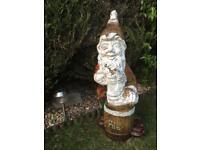 Very Large Rare and Vintage Garden Gnome - Brewery/Pub pub garden piece