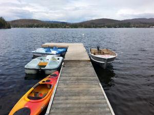 Superbe Chalet à Louer Bord de l'eau Spa Pêche près Tremblant !